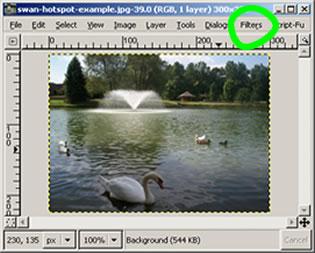 Hotspots with GIMP